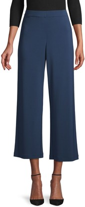 Lafayette 148 New York Wide-Leg Cropped Pants