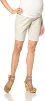 Motherhood Secret Fit Belly Khaki Maternity Bermuda Shorts