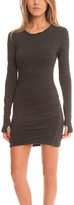 Pam & Gela Asymmetrical Long Sleeve Dress