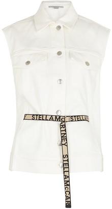 Stella McCartney White belted denim jacket