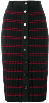 Adam Selman Sport 'Conspiracy' striped pencil skirt