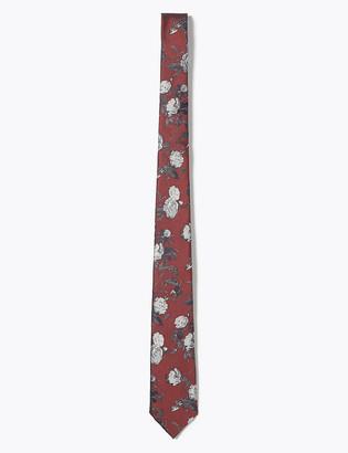 Marks and Spencer Slim Floral Tie