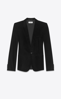 Saint Laurent Classic Evening Velvet Jacket Black 38