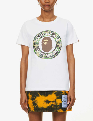 BAPE Busy Works printed cotton-jersey T-shirt