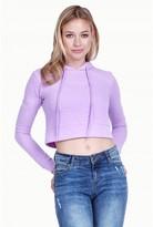 Select Fashion Fashion Women's Crop Slubby Hoodie 0 - size 6