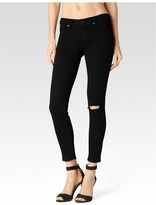 Paige Verdugo Crop - Jett Black Destructed Undone Hem