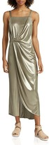 Halston Metallic Jersey Dress