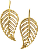 Penny Preville Pave Gold Leaf Drop Earrings