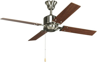 "Progress Lighting North Park 52"" 4-Blade Ceiling Fan, Brushed Nickel"