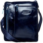 Piquadro Blue Square Across Body Bag Blu Notte