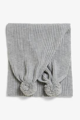 Monki Pom pom scarf