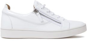Giuseppe Zanotti Brek Zip-detailed Patent-leather Sneakers
