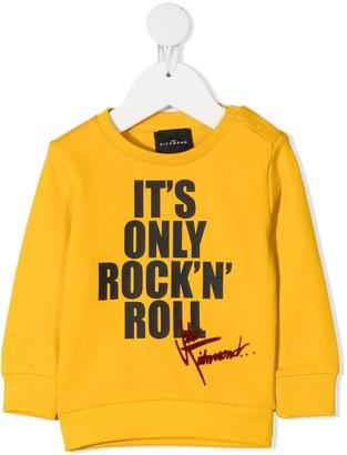 John Richmond Junior Slogan Print Sweatshirt