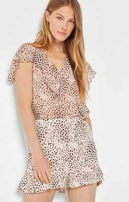 BCBGMAXAZRIA Cold Shoulder Ruffle Blouse