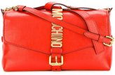 Moschino letters buckle shoulder bag