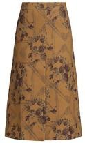 Thumbnail for your product : Ganni Brocade Jacquard Midi Skirt