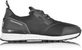 Hogan Running R261 Black Nubuck and Neoprene Slip on Men's Sneaker
