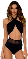 Del Mar Swimwear - Alayna Maillot in Black