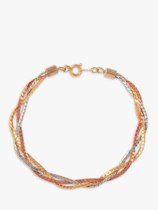 Susan Caplan Vintage Multi Plated Braided Bracelet, Multi