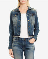 Calvin Klein Jeans Ripped Denim Trucker Jacket