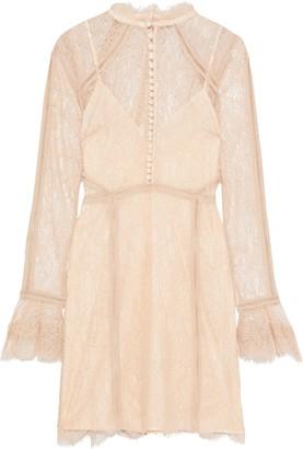 Nicholas Scalloped Corded Lace Mini Dress