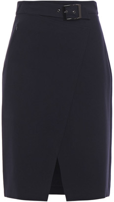 Elie Tahari Gracelyn Belted Crepe Pencil Skirt