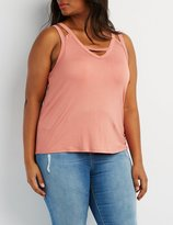 Charlotte Russe Plus Size Cut-Out Tank Top