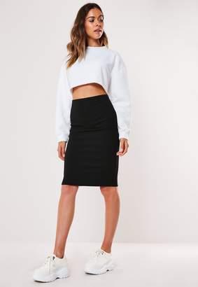 Missguided Petite Black Basic Midi Pencil Skirt