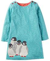 Jumping Meters Kids T-shirt Dress with Penguin Pattern Elsa Costume,Blue