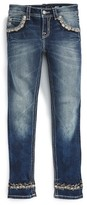 Miss Me Girl's Sparkle Cuff Skinny Jeans
