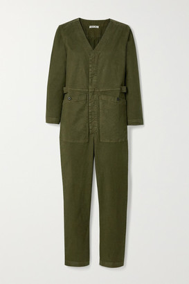 Alex Mill Stretch-tencel And Cotton-blend Twill Jumpsuit - Army green