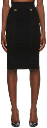 Versace Jeans Couture Black Pencil Skirt