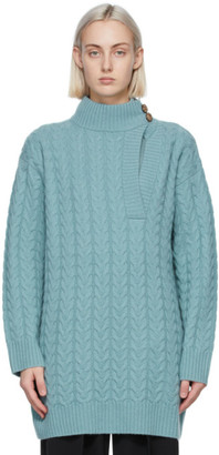 Max Mara Blue Wool and Cashmere Medea Sweater