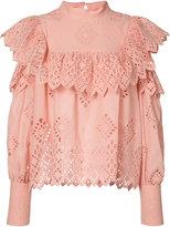 Sea cut-out shoulders blouse - women - Cotton - 2