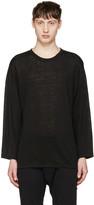 Christian Dada Black Linen Pullover