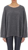 The Row Women's Cashmere Minola Swing Sweater-DARK GREY