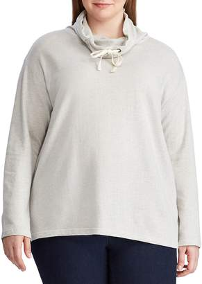 Chaps Plus Cowlneck Cotton Sweatshirt