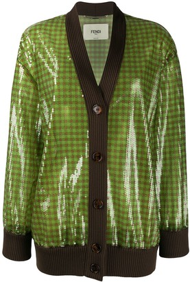 Fendi sequinned V-neck cardigan