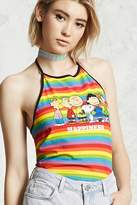 Forever 21 Peanuts Graphic Halter Top