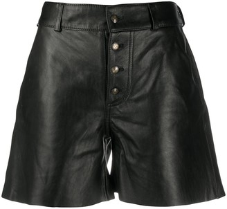 Etro Buttoned Leather Shorts