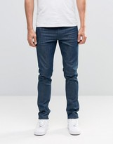 Weekday Friday Skinny Jeans Sea Blue Monochrome