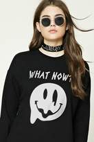 Forever 21 FOREVER 21+ What Now Fleece Sweatshirt