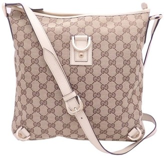 Gucci Beige/Brown GG Canvas Abbey D-Ring Shoulder Bag