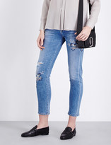 Citizens of Humanity Emerson embroidered straight mid-rise jeans