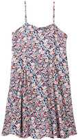 Vintage Havana Floral Cutout Back Dress (Big Girls)