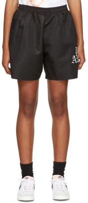 Palm Angels Black Hue Gothic Logo Shorts