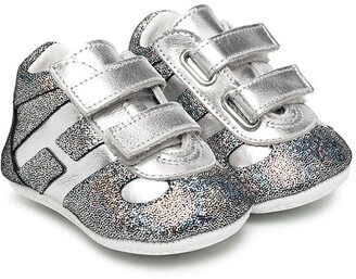 Hogan Glitter-Embellished Touch-Strap Sneakers
