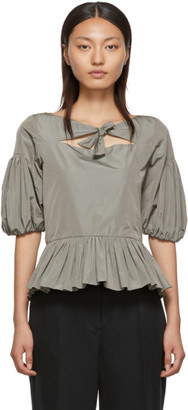 Molly Goddard Grey Clara Blouse