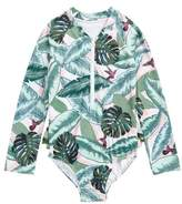 Seafolly Palm Beach Rashguard Swimsuit