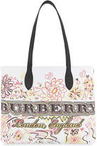 Burberry Doodle flowers reversible canvas tote